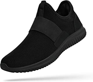 Troadlop Mens Fashion Sneakers Slip on Laceless Breathable Gym Shoes Casual Lightweight Knit on Running Walking Tennis Athletic Shoes