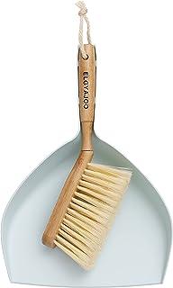 ELGYAJOO Bamboo Hand Cleaning Brush Broom & Dustpan Set Dust Pan with Hand Brush/Broom Bristle Counter Dusting Pan and Bru...