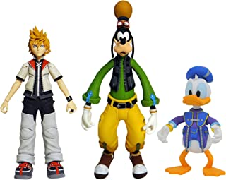 DIAMOND SELECT TOYS Kingdom Hearts Select Series 2: Roxas, Donald Duck, & Goofy Action Figure Set