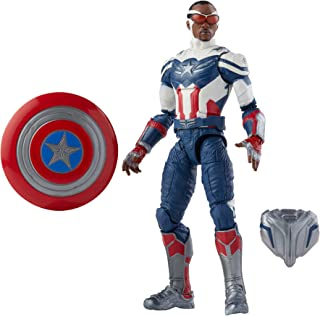 Hasbro Marvel Legends Series Avengers Captain America-actiefiguur van 15 cm, hoogwaardig ontwerp en 4 accessoires, voor ki...