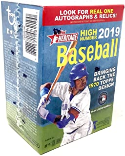 Topps 2019 Heritage High Number Baseball Retail Blaster Box (8 Packs/9 Cards)