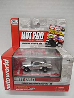 Auto World SC254 Hot Rod Magazine 1968 Chevelle SS Red HO Scale Electric Slot Car