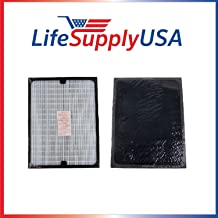 LifeSupplyUSA Replacement HEPA Filter Compatible with All Blueair 200 Series SmokeStop Smoke Stop 201, 203, 215B, 250E, 270E, and 303 air purifiers