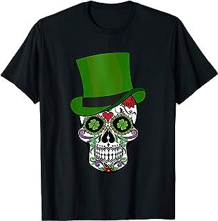 Sugar Skull St Patrick's Day T-Shirt Saint Patty's Day Gift