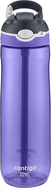 Contigo AUTOSPOUT Straw Ashland Water Bottle 24 Oz Grapevine