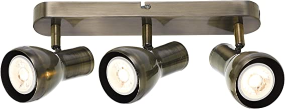 Telbix Curtis 6W Triple 240V GU10 Curtis LED Spotlight, Antique Brass