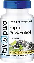 Super Resveratrol 100mg - Trans resveratrol + OPC + Quercetina + Rutina - Vegano - Alta pureza - 90 Cápsulas