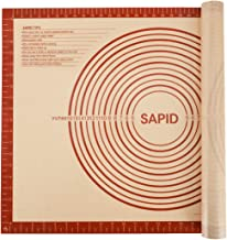 "Sapid Extra Thick Silicone Pastry Mat Non-slip with Measurements for Non-stick Silicone Baking Mat Extra Large, Dough Rolling, Pie Crust, Kneading Mats, Countertop, Placement Mats (20"" x 28"", Red)"