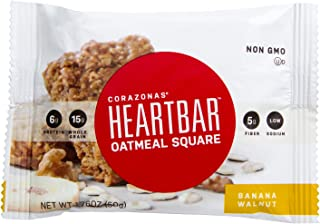 Heartbar Oatmeal Square, Banana Walnut, 1.76 Ounce, 12 Count