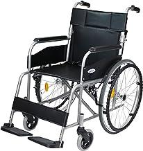 ケアテックジャパン 自走式 スチール製 折りたたみ 車椅子 ウィッシュ CS-10 ブラック