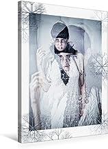 Premium textilduk 50 cm x 75 cm hög, vinterhemligheter | väggbild, bild på kil ram, färdig bild på äkta kanvas, tryck på k...