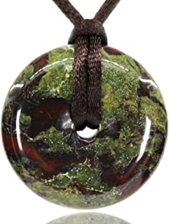 AMANDASTONES Natural Gemstones Peace Donut 30M Beads Adjustable Braided Macrame Tassels Pendant Unisex