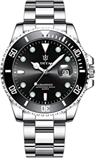 ساعة يد رجالي من الفولاذ المقاوم للصدأ مقاومة للماء من ميني فوكس ساعة تناظرية كوارتز تاريخ أخضر موضة الأعمال