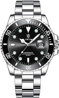 MINI FOCUS Mens Watches Stainless Steel Waterproof Watch Analog Quartz Date Green Fashion Business Style Men Wrist Watch