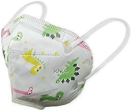 Máscaras KN95 Branca de Dinossauro Infantil Criança - Kit de 10, 20, 30, 40, 50, 100 Unidades - FPP2 PFF2 - Filtragem > 9...