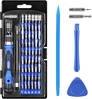 Syntus Precision Screwdriver Set, 63 in 1 with 57 Bits Screwdriver Kit, Magnetic Driver Electronics Repair Tool Kit for iPhone, Tablet, Macbook, Xbox, Cellphone, PC, Game Console, Blue