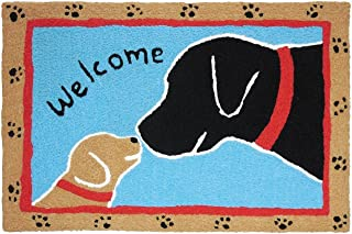 "Jellybean Welcome Dogs Scatter Rug 20"" x 30"""