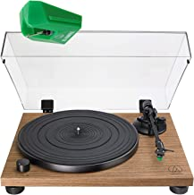 Audio Technica AT-LPW40WN Fully Manual Belt-Drive Turntable with VMN95E Replacement Stylus (W/Stylus)