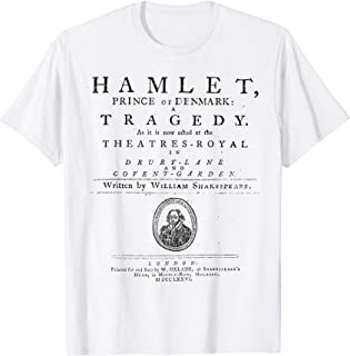 William Shakespeare Hamlet Shirt Literature Theatre Gift T-Shirt