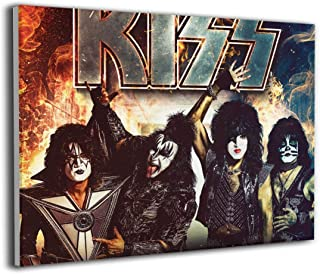 Kiss Band Canvas Painting Wall Art Beauty Decorative Painting Corridor Wall Painting Simple Framed Ready To Hang 16
