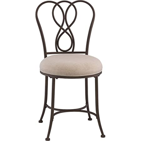 Amazon Com Hillsdale Windsor Vanity Bench Burnished Bronze Furniture Decor