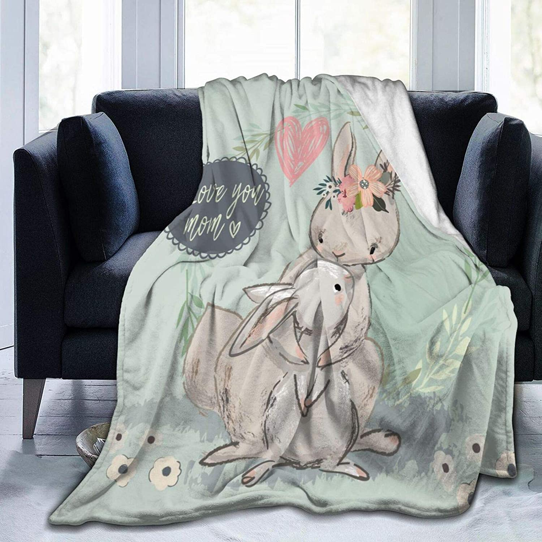 Wozukia Cute Hare with 送料無料(一部地域を除く) Child オーバーのアイテム取扱☆ Blanket Quot Love Wreath in Mum You