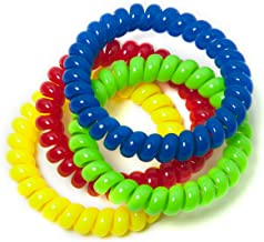 Chewable Jewelry Large Coil Bracelet - Fun Sensory Motor Aid - Speech And Communication Aid - Great For Autism And Sensory-Focused Kids 4 Pack 4 Colors