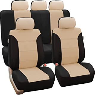 FH Group FB065115 Classic Khaki Seat Covers – Full Set