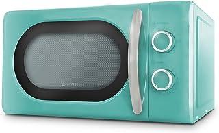 Grunkel – Micro-ondes numérique de 20 l de capacité avec design vintage et 6 niveaux de puissance. Fonction cuisson rapide...