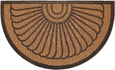 oKu-Tex Coconut mat, Shell, 45 x 75 cm halbrund
