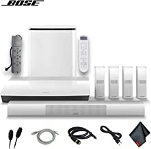 Bose Lifestyle 650 Home Theater System with OmniJewel Speakers (White) W/Optical Cable, HDMI Cables, AUX Cable, PowerStrip and More