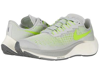 Nike Kids Air Zoom Pegasus 37 (Little Kid/Big Kid) (Grey Fog/Volt/Smoke Grey/Sail) Kid