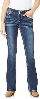 WallFlower Women`s Juniors Luscious Curvy Bling Bootcut Jeans