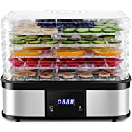 Costzon Food Dehydrator,... Costzon Food Dehydrator, Electric 5-Tire Fruit Vegetable Dryer with Adjustable Timer and...
