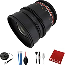 Rokinon 16mm T2.2 Cine Lens for Nikon F with Essential Accessories