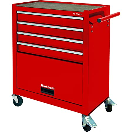 Einhell Carro de taller TC-TW 100 (máx. 75 kg, 4 cajones de marcha suave, 4 ruedas giratorias)