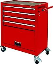 Einhell Werkplaats-gereedschapswagen TC-TW 100 (max. 75 kg, 4 soepel lopende schuifladen, 4 draaibare wielen).