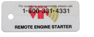 TOYOTA Genuine Accessories PT398-4209E Remote Engine Start with RES Key Tag