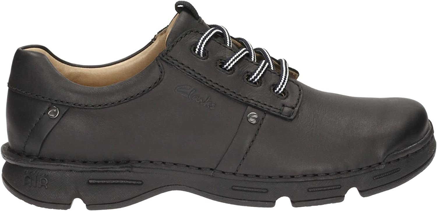 Clarks Men's Lace-Up Derby shoes Rico Park Black Leather