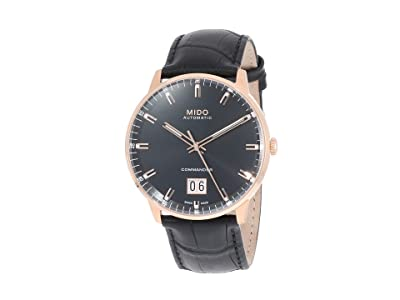 Mido Commander Big Date Rose PVD Case M0216263605100 (Black) Watches