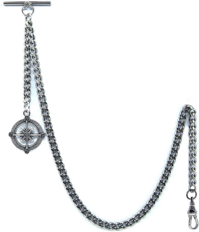 WATCHVSHOP Price reduction Attention brand Albert Chain Silver Tone Pocket Vest Chai Watch
