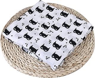 Baby Muslin Swaddle Blanket, Soft Muslin Cotton Swaddle Wrap for Boys Girls