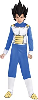 Dragon Ball Super Vegeta Costume for Children, Includes Jumpsuit, Headpiece, and Boot Covers
