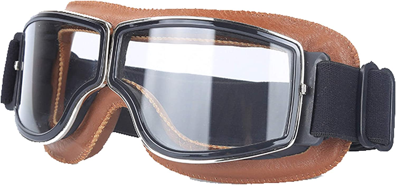 Blisfille Gafas de Moto Transparentes Gafas para Ordenador Niños,Negro Plata