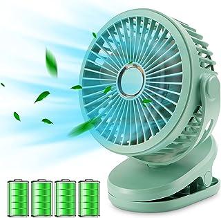 【2021年最新進化版】TEPNICAL 卓上扇風機 PSE認証済 充電式 usb 扇風機 小型 10000mA クリップ式 せんぷうき扇風機 静音 強力 大風量 4段階調節 360度角度調整 日本語取扱説明書付グリーン (グリーン)