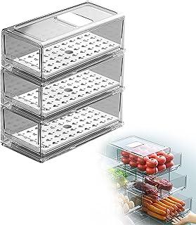 Sinctual Cuisine Empilable Clear Réfrigérateur Conteneurs Conteneurs Ensemble Organisateur, Boîte de conteneurs de Rangeme...