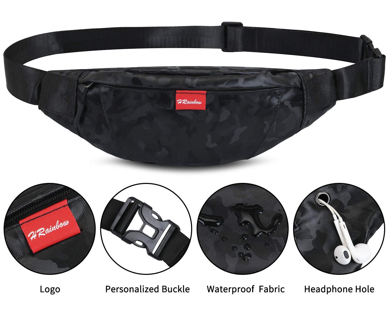 HRainbow Ri/ñoneras Deportivas Mujer Hombre Ri/ñoneras Running de Moda Bolsa de Cintura para Telefono Impermeable para Viaje Correr Ciclismo Paseo