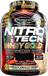 Muscletech NitroTech Whey Gold Galletas con crema 5.53 lb