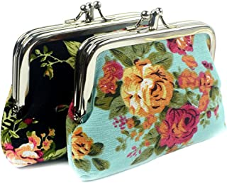 Fashion Women's Cute Classic Exquisite Buckle 2 Pockets Coin Purse