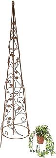 Anneau en Fil de Fer pour Fleur 6PCS 11.8x19.6Inch GRANDLIN Lot de 6 Anneaux de Support Demi-Ronds en Fer Vert Semi-Circulaire pour Plante de Jardin en m/étal